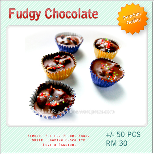 Kuih Raya - Fudgy Chocolate